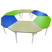 Стол Ромашка большой регулируемый (лепесток) d=2м, ПЛАСТИК