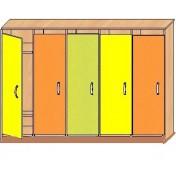 Шкаф детский для одежды 5ти секционный