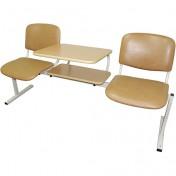 Секция многоместная на базе стула Офисный - 2 со столом