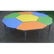Стол Ромашка большой регулируемый d=2м (7 столиков) ПЛАСТИК